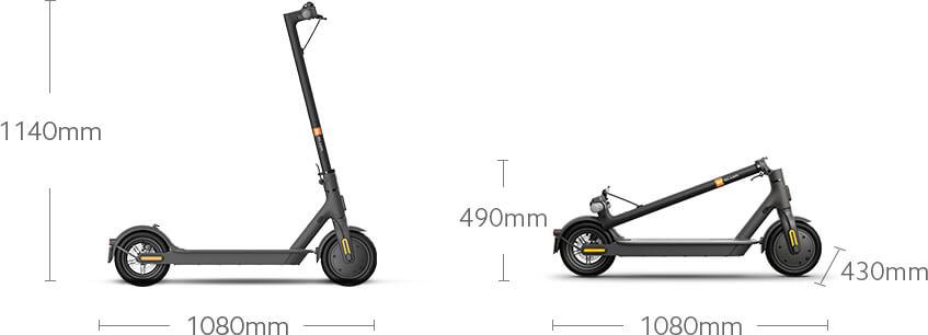 Rozměry elektrokoloběžky Xiaomi Mi Scooter Essential