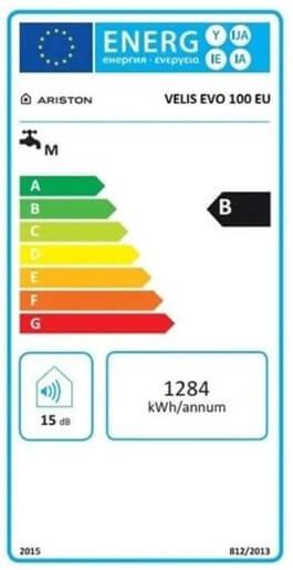 Energetický štítek Ariston Velis EVO 100