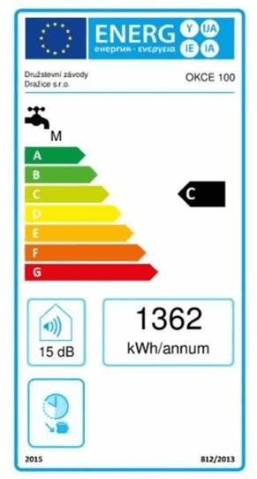 Energetický štítek Dražice OKCE 100