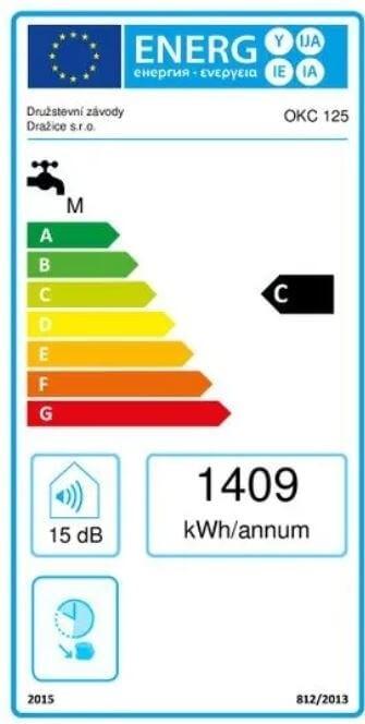 Energetický štítek ohřívače vody