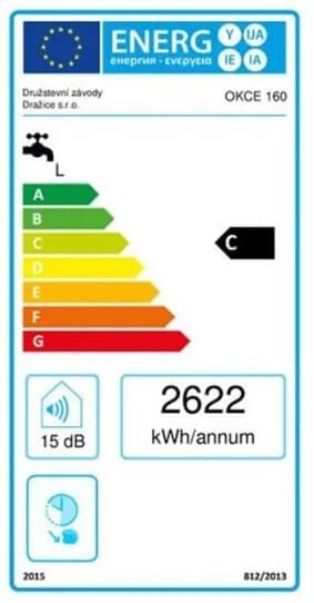 Energetický štítek Dražice OKCE 160