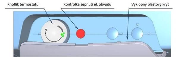 Ovládání ohřívače vody je jednoduché