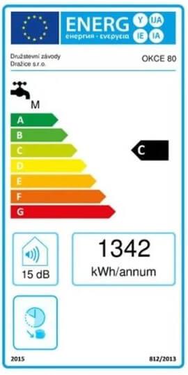 Energetický štítek Dražice OKCE 80