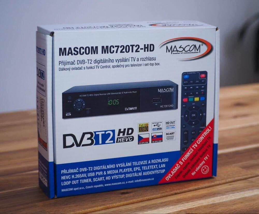 Balení set-top boxu Mascom MC720T2 HD